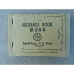 M-210-B Message Book Used in M-209 Cipher Machine U.S. Signal Corps